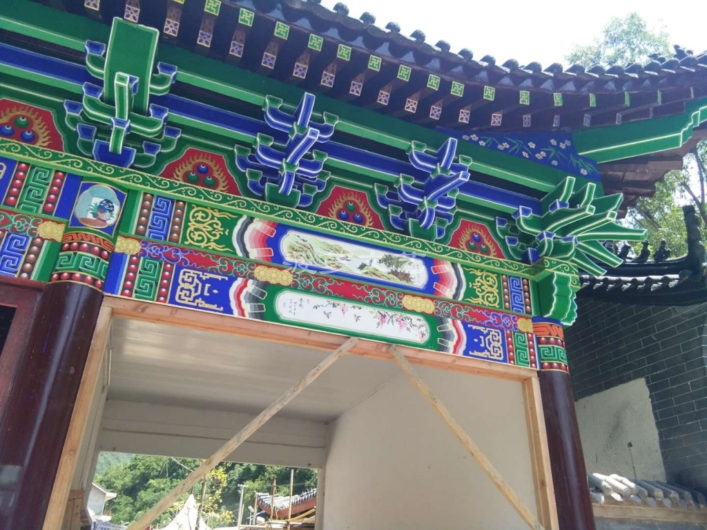 古建彩绘-苏州白马寺-5