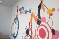 菠萝文艺-墙体彩绘-南通家家乐连锁超市-3
