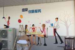 菠萝文艺-墙体彩绘-南通家家乐连锁超市-4