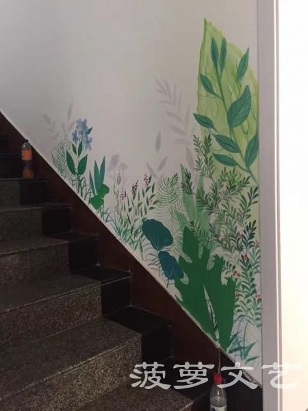 江阴墙绘-菠萝文艺-百花楼餐厅-4