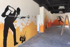 南通墙绘-菠萝文艺-健身房-1