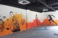 南通墙绘-菠萝文艺-健身房-2