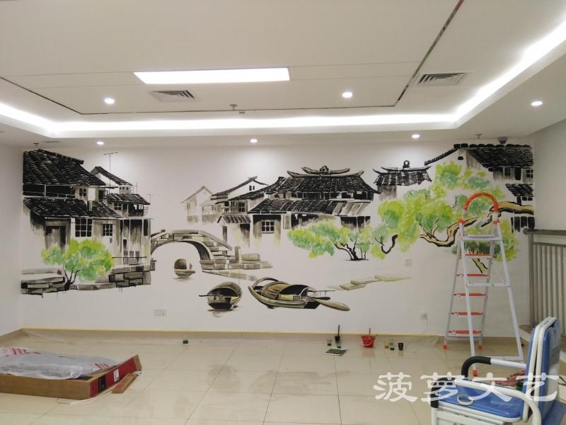 苏州墙绘-菠萝文艺-同济医院-2