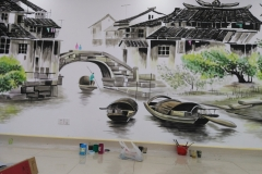 苏州墙绘-菠萝文艺-同济医院-3