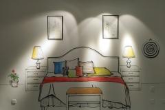 无锡墙绘-菠萝文艺-金科样板房-1