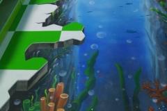 无锡墙绘-菠萝文艺-胜利门海底世界-13