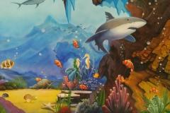 无锡墙绘-菠萝文艺-胜利门海底世界-8